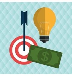 target money cash vector image