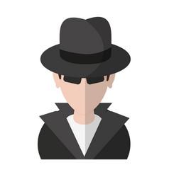 Thief hacker avatar symbol vector