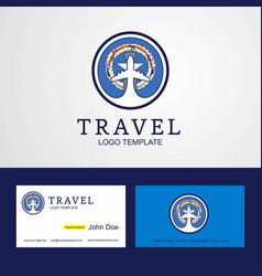 Travel northern mariana islands creative circle vector