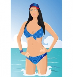 Vector girl in bikini vector