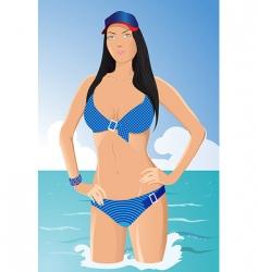 vector girl in bikini vector image