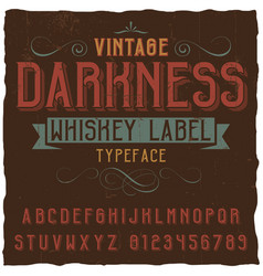 vintage darkness whiskey poster vector image