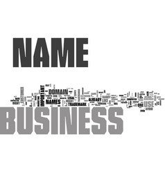 what s in a name when it comes to your business vector image