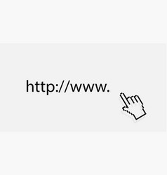 www icon web site icon www with hand cursor in vector image