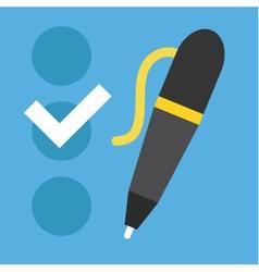 Checklist and Pen Icon vector image vector image