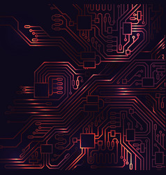 circuit board abstract background vector image