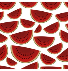 colorful sliced melon fruits seamless pattern vector image