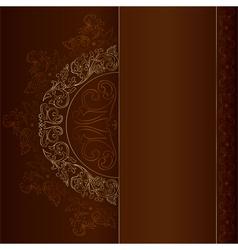 Gold vintage floral patterns on black vector image