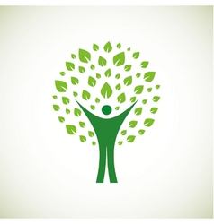 Green man vector image vector image