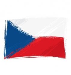 grunge Czech republic flag vector image vector image