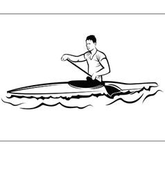 Man in a kayak vector image