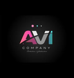 avi a v i three letter logo icon design vector image vector image