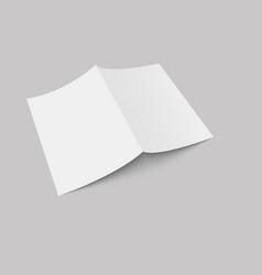 blank open magazine mock up vector image