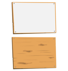 blank sign and wood sign vector image