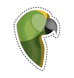 Cute parrot pet icon vector