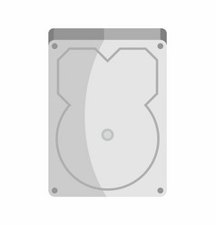 flat hardware hard drive icon for repair service vector image vector image
