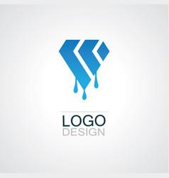 polygon shape oil logo vector image