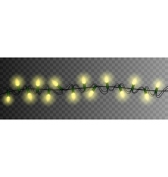 christmas lights luminous garland isolated vector image vector image