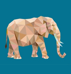 Elephant low polygon vector image vector image