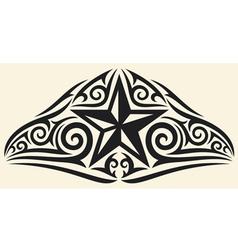 star tattoo design vector image