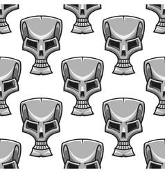 Stylized modern silver skull seamless pattern vector