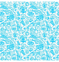 Abstract seamless pattern in blue vector image