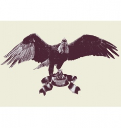 eagle spreading its wings vector image vector image