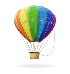 Hot air balloon in rainbow colors isolated vector image vector image