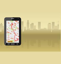 modern taxi service vector image