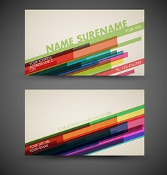 old-style retro vintage colorful business card vector image vector image