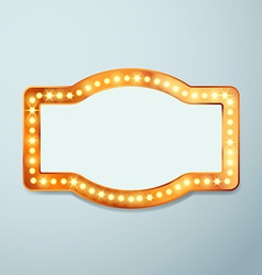 Retro bulb circus cinema light sign template vector image vector image