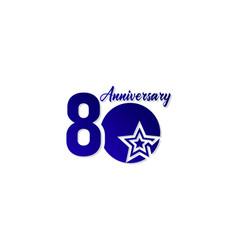 80 years anniversary celebration star blue logo vector