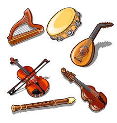a set classic strings percussion and wind vector image