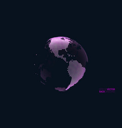 abstract dotted globe views over north and vector image