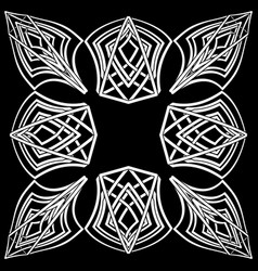 abstract gothic symbol in celtic style vector image