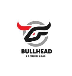 abstract simple bull head logo vector image