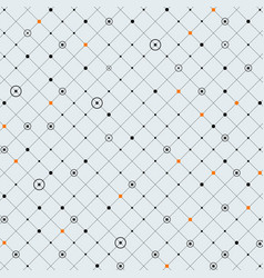 abstraction of digital dot in circle and orange vector image