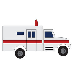 ambulance car driving to hospital print on white vector image
