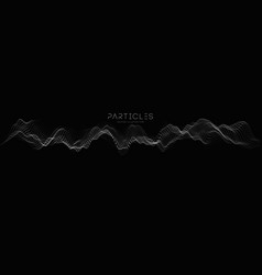 Audio waves with music waves music particle vector