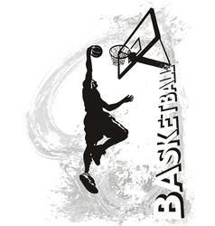 Basketball slam jam vector