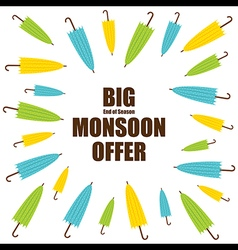Big end of season monsoon offer banner design vect vector
