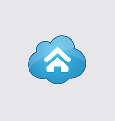 Blue cloud Home icon vector