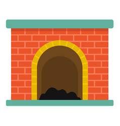 brick fireplace icon cartoon style vector image