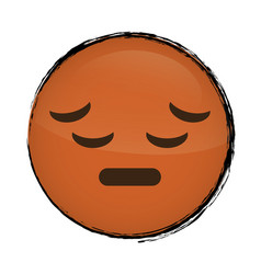 cartoon face icon vector image