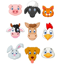 Cartoon farm animal set vector image