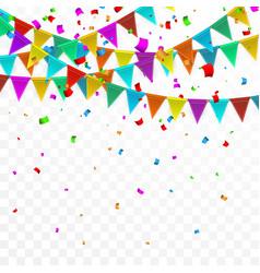 Colorful confetti celebration carnival party vector