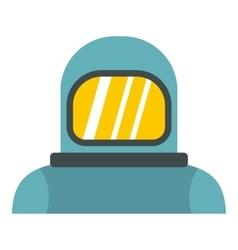 Cosmonaut icon flat style vector