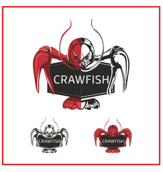 Crawfish logo vector