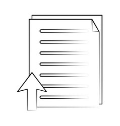 document with upload arrow icon image vector image