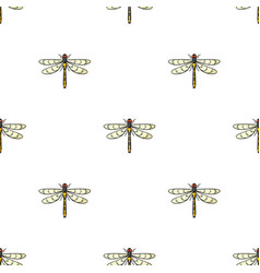 Dragonfly icon in cartoon style isolated on white vector